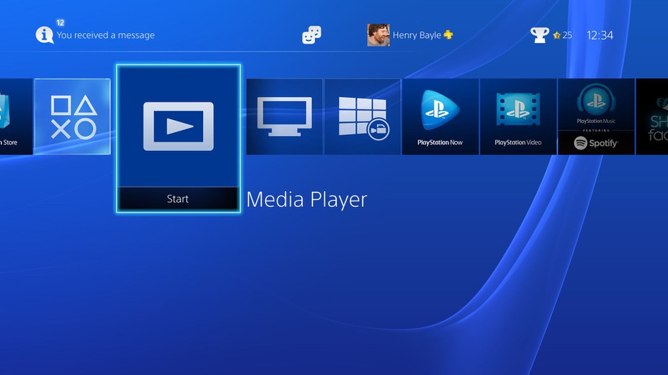 Playstation 4 Pro media player